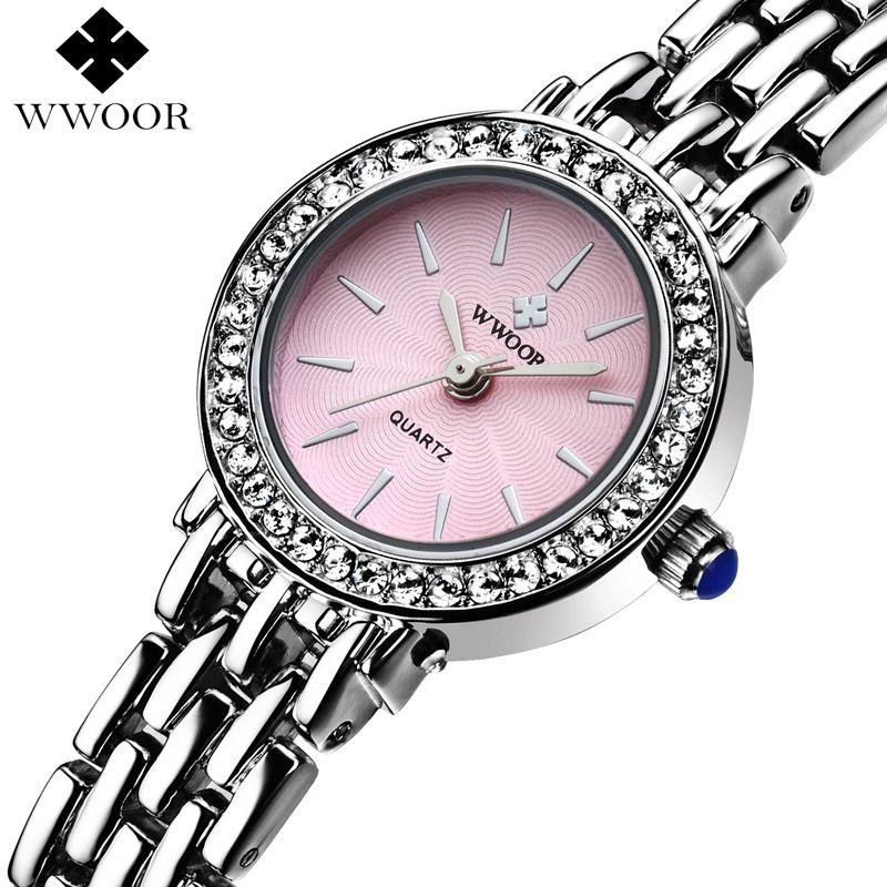 Top Brand Women's Quartz Bracelet Watch Women Dress Watches Ladies Silver Casual Wrist Watch Female Small Clock Relogio Feminino