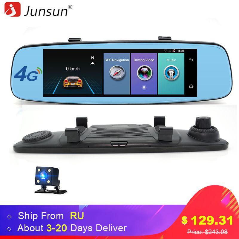 Junsun 4G ADAS Voiture DVR Appareil Photo Numérique enregistreur Vidéo miroir 7.86