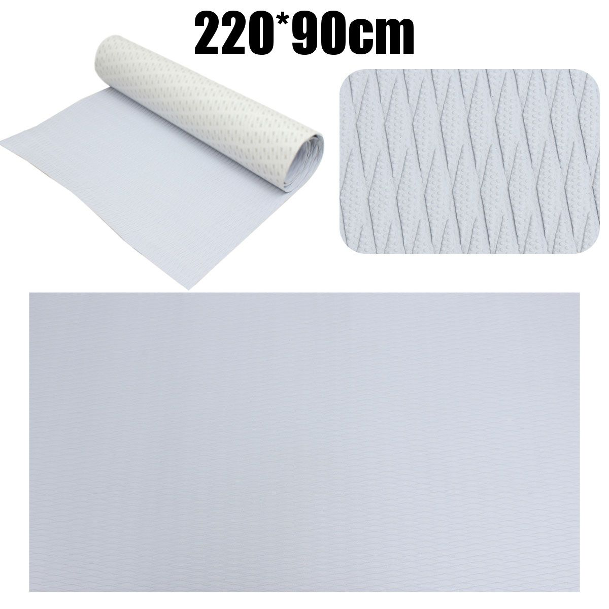 New 5mm 220cm x 90cm Self-Adhesive EVA Foam RV Boat Decking Sheet Marine Flooring Faux Teak Grey