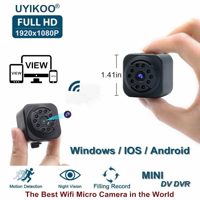 New Wifi Mini Camera 1080P HD Remote Playback Video Small Micro Cam With Motion <font><b>Detection</b></font> and Night Vision Home Monitor PK SQ13