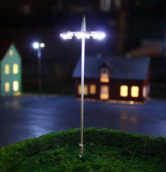 new arrival HO scale train sand table accessories boutique street lamp six square street lamp