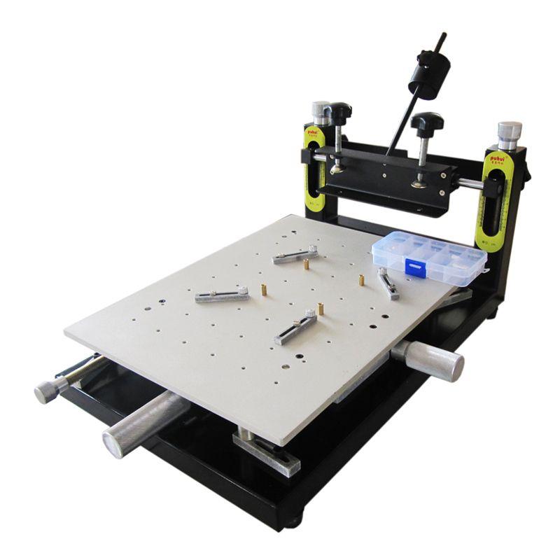 PUHUI Hohe Präzision Lotpaste Drucker platine schweißen 300x400mm Manuelle Schablone Drucker Siebdruck Maschine