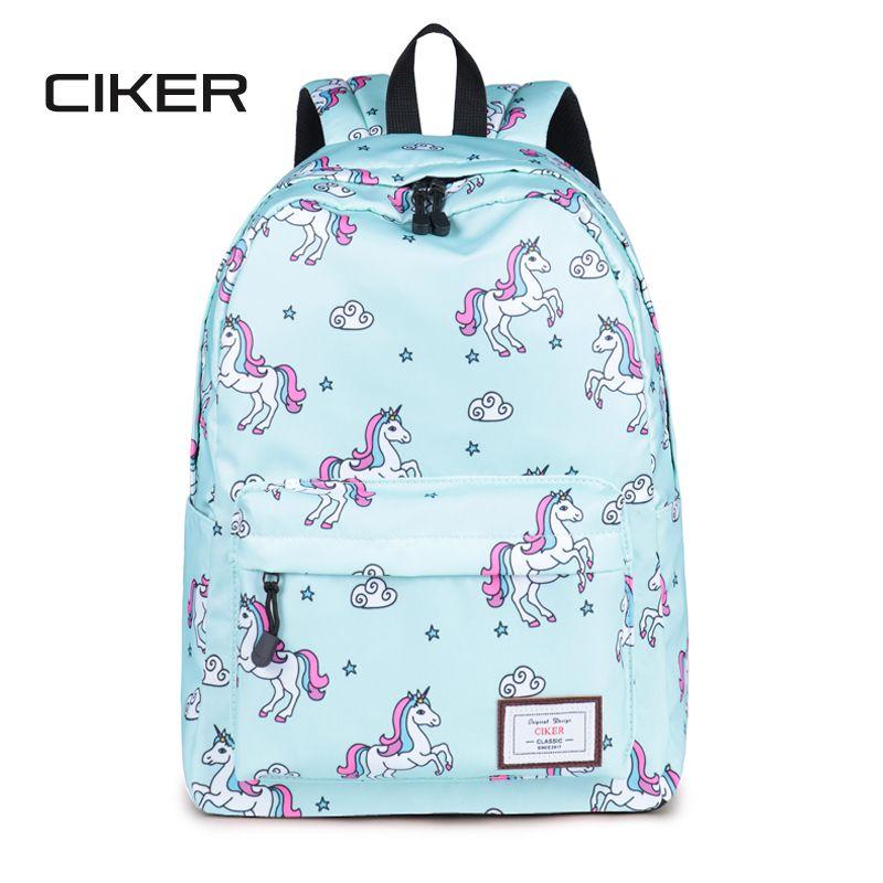 CIKER women backpack fashion cute travel bags unicorn printing backpack new laptop backpacks for teenage girls mochilas rucksack