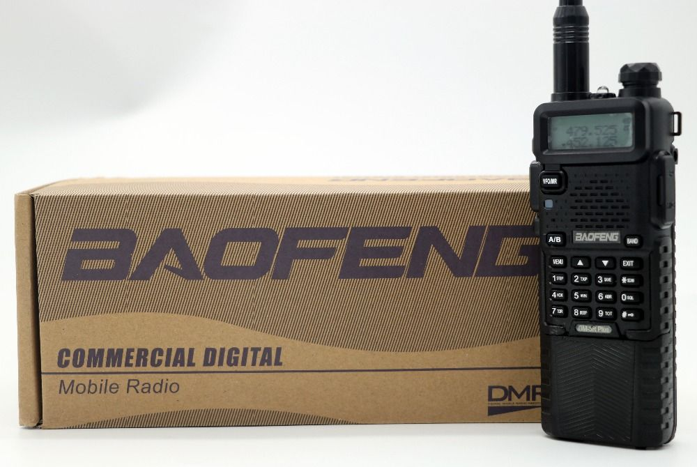Baofeng DM-5R Plus With 3800mAh Long Battery Portable Radio VHF UHF Dual Band DMR 5W 128CH Walkie Taklie Transceiver