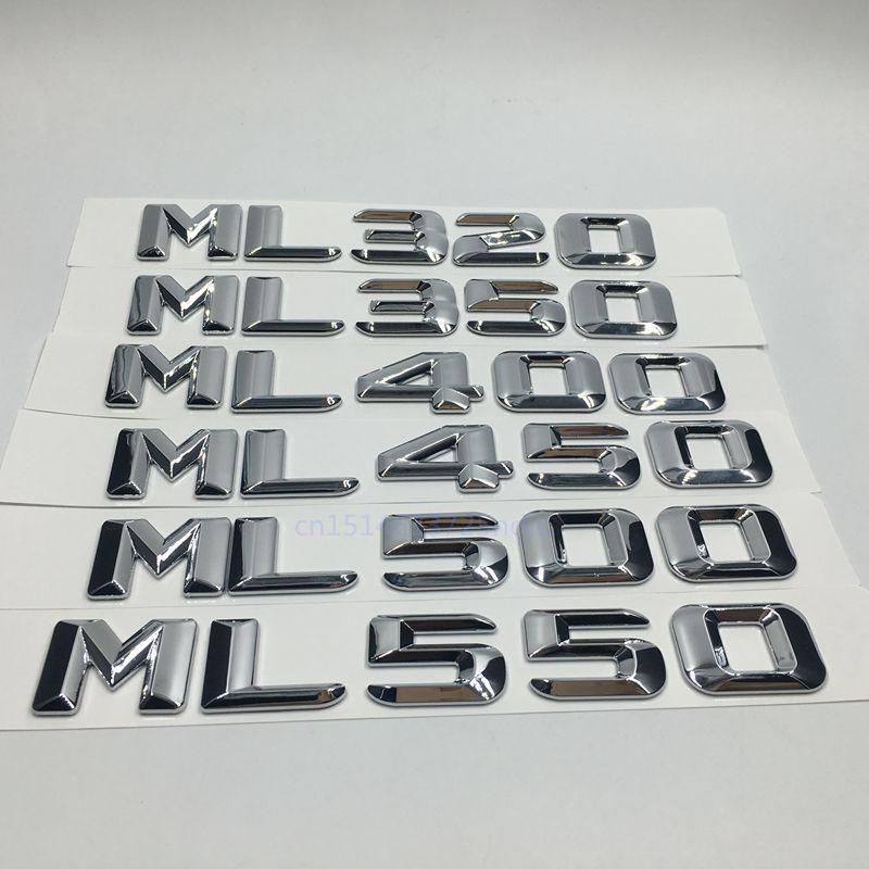 Style de voiture pour Mercedes ML320 ML350 ML400 ML450 ML500 ML550 capacité de décharge réaménagement emblème autocollant pour Benz ML classe