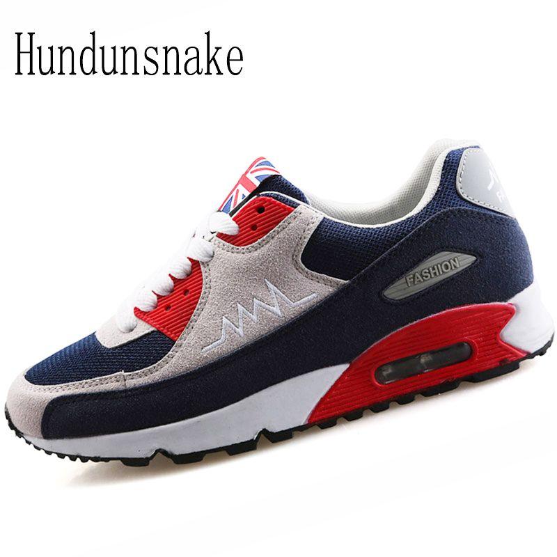 Hundunsnake 2018 Sneakers Women Sport Shoes Female Mesh Breathable Running Shoes For Men Cushioning Krasovki Ladies Gumshoes T8