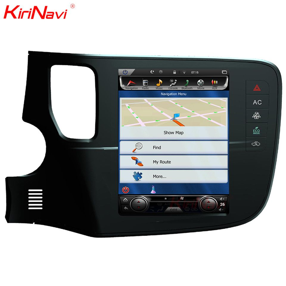 KiriNavi Vertical Screen Tesla Style Android 6.0 10.4 Car Multimedia Player For Mitsubishi Outlander Radio Navigation SystemsGPS
