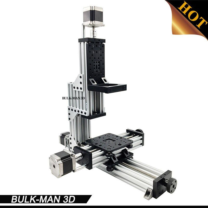 MiniMill Mechanical Kit 3 Axis Desktop CNC MiniMill with 3pcs Nema 23 stepper motors