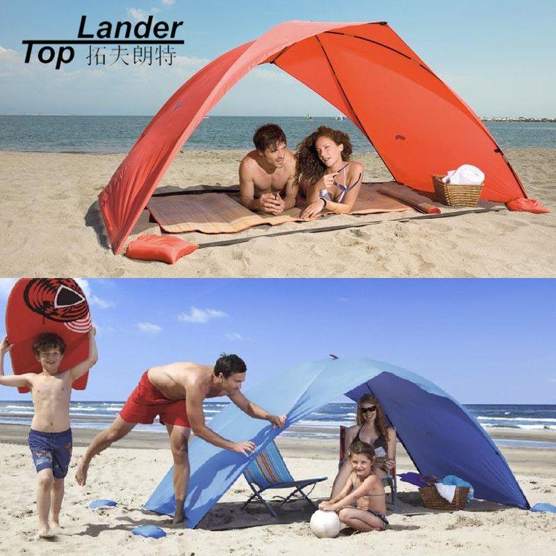 Abri de soleil tente pour plage été en plein air bâche UV ombre de soleil échoutente Cabana Camping pêche auvent parasol plage tente auvent