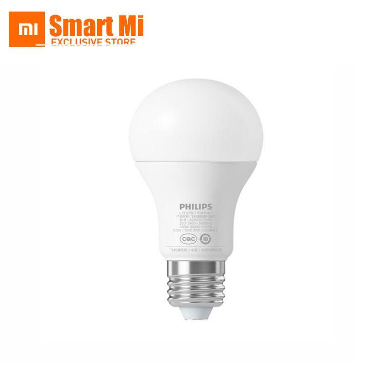 Lampe à bille d'origine Xiao mi ampoule LED intelligente WiFi télécommande par Xiao mi maison APP Standard E27 ampoule 6.5 W 0.1A