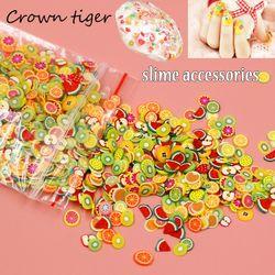 slime filler 1000pcs Fruit slices Filler For Nails Art Tips Slime Fruit For Kids Lizun DIY slime Accessories Supplies Decoration