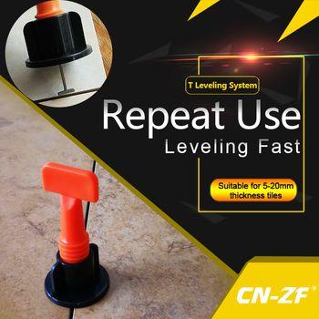 CN-ZF 50 Sets/sac 1 Pcs Outil En Plastique Plat En Céramique Niveleur Outils de Construction De Sol Mur Niveau Tile Nivellement Système Kits Pour tuiles