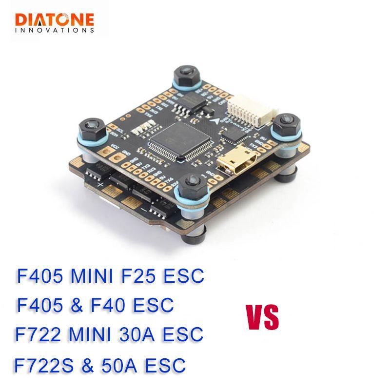 Diatone MAMBA F405/F722S Betaflight Flight Controller & F40 40A/F25 DSHOT600 50A/30A DSHOT1200 Bürstenlosen ESC für RC Modell Teil