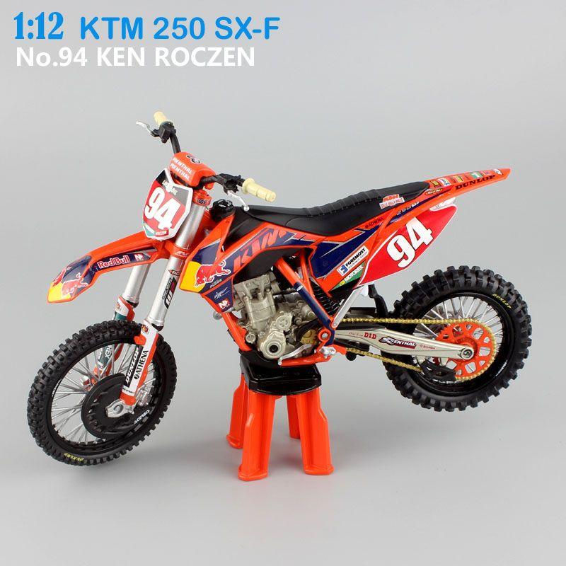 1 12 scale KTM 250 SX-F racer No.94 KEN ROCZEN AMA Supercross Motocross Enduro dirt bike Motorcycle moto Diecast Model toy kids