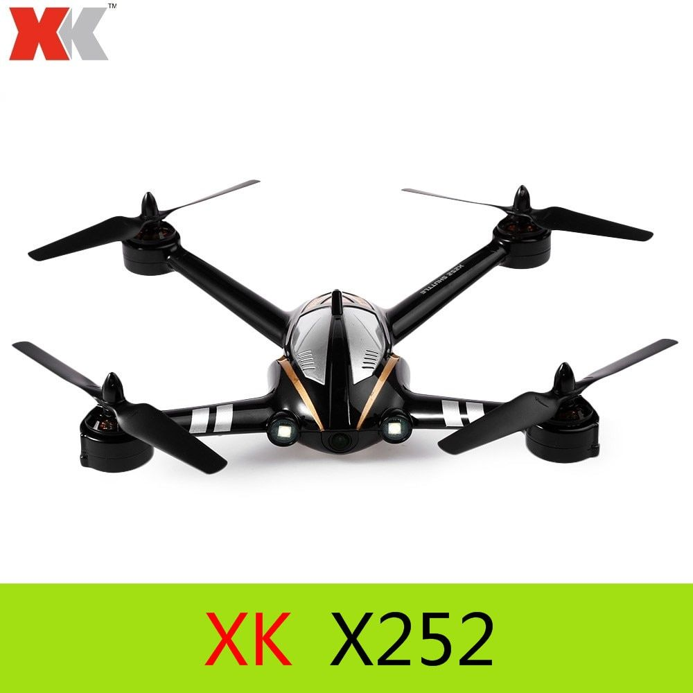 Original XK X252 2.4G 7CH 5.8G FPV 3D 6G RC Quadcopter RTF with 720P 140 Degree Wide-angle HD Camera Brushless Motor