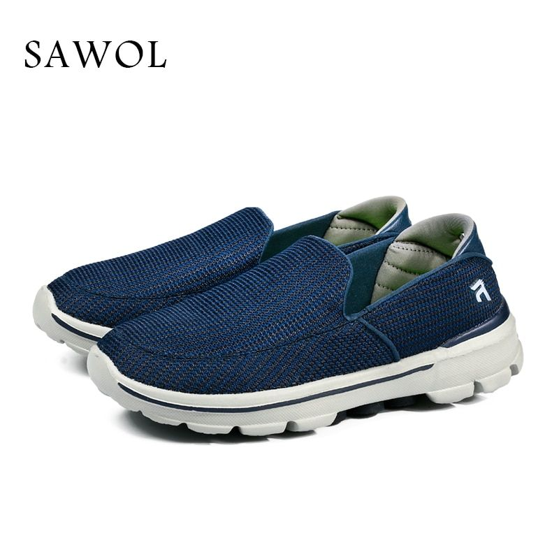 Sawol Brand Men Casual Shoes Men Shoes Loafers Male Breathable Plus Big Size Men Sneakers Flats Slip On Slipony With Box