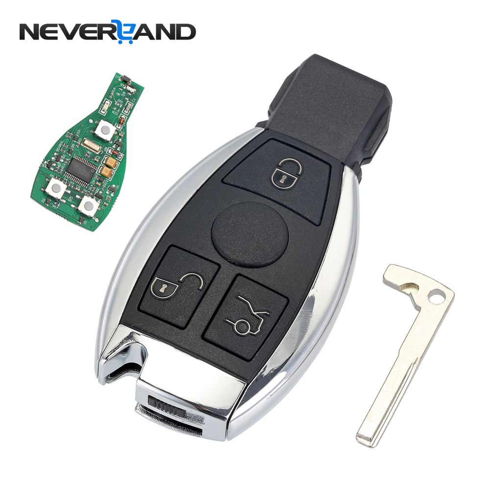 3 Buttons Remote Car Key Shell Key Replacement For Mercedes Benz year 2000+ NEC&BGA Control <font><b>433MHz</b></font>