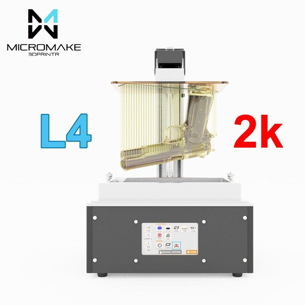 Micromake neue L4 UV-licht härtende SLA/LCD/DLP 3d drucker druck volumen 190*120*225mm 24um genauigkeit für Schmuck zahnmedizin phontn