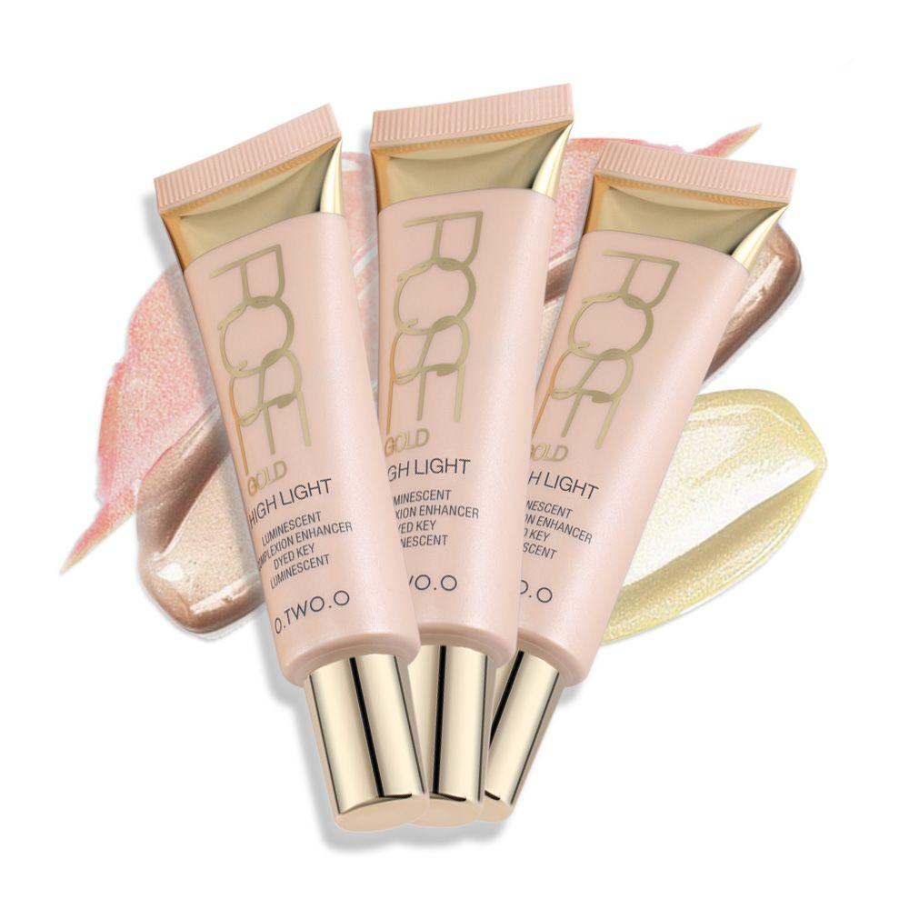O. DEUX. O Iluminador Surligneur Crème Maquillage Shimmer Éclat Visage Kit Égayer Le Visage Éclat Rose Or Bronzer Marque Maquiagem