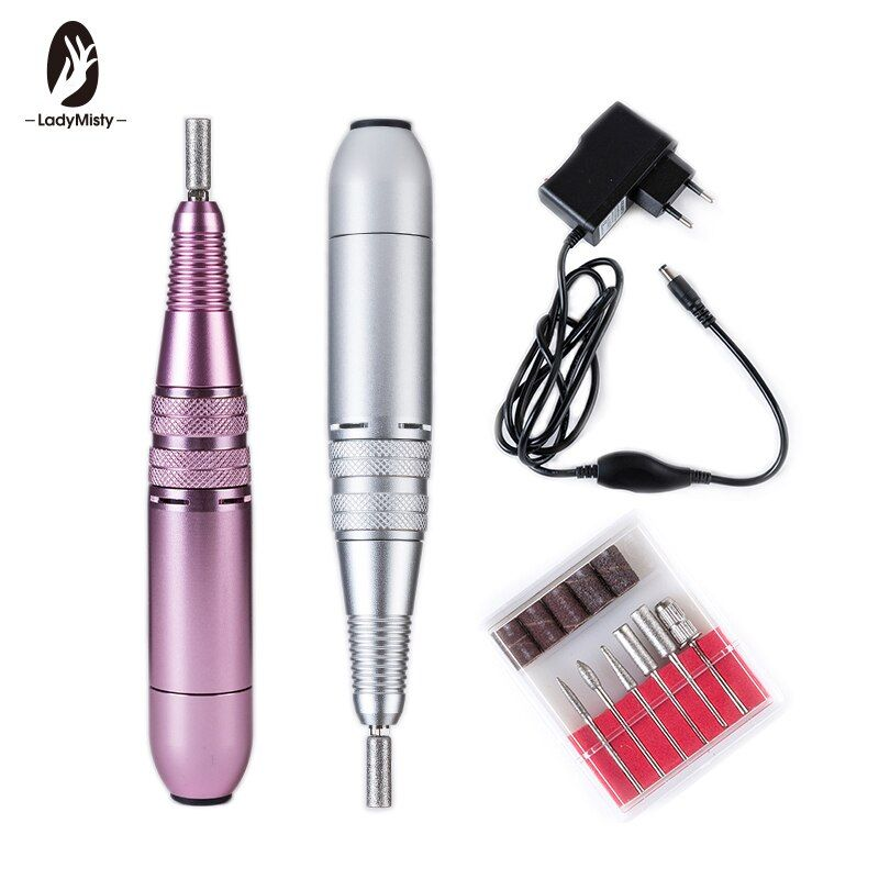 Pink/Silver 25000rpm 110-240V Metal Portable Easy to Operate Pen Shape Electric Nail Drill Machine For Pro Nail Division
