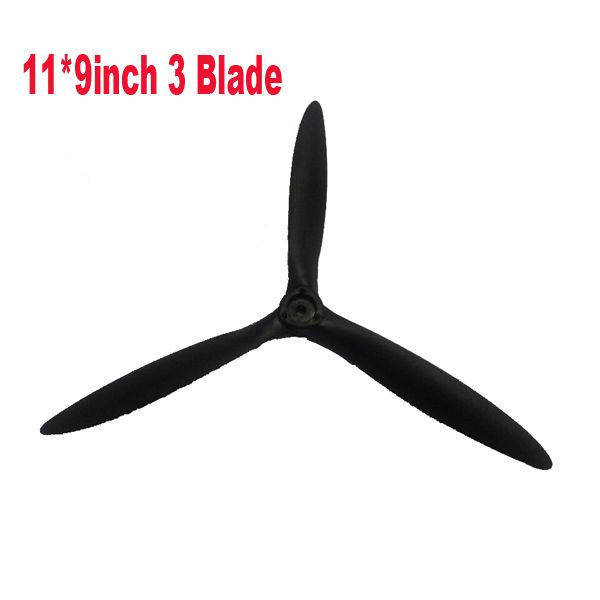 Free shipping RC Cessna 182 11*9 3 blade plastic propeller for cessna airplane 1410mm wingspan remote control fixed wing plane