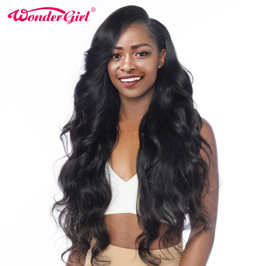 Wonder girl Pre Plucked 360 Lace Frontal Wig Peruvian Body Wave 150% Density Human Hair Wigs For Black Women Non Remy