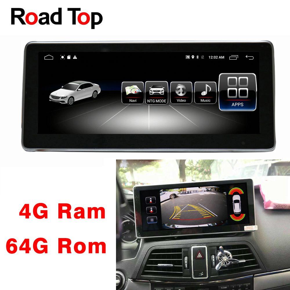 10,25 Android 8.1 Octa 8-Core CPU 4 + 64G Auto Radio GPS Navigation Bluetooth WiFi Kopf Einheit bildschirm für Mercedes Benz E W212 S212