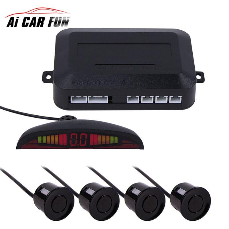7 couleurs Capteur Kit De Voiture Auto LED Affichage 4 Capteurs Pour toutes les Voitures Assistance N ° Radar De Sauvegarde Moniteur Parking Système 1 Set