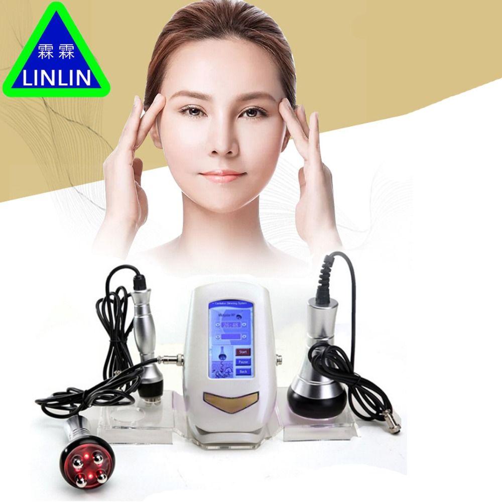 LINLIN 40 K fett detektor RF mehrpoligen radio frequenz Ultraschall Fett Explosion Gewicht Verlierer Gesichts Kosmetische Gerät