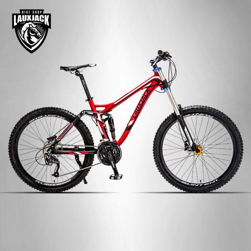 LAUXJACK Berg doppelseitige fahrrad aluminium rahmen 26