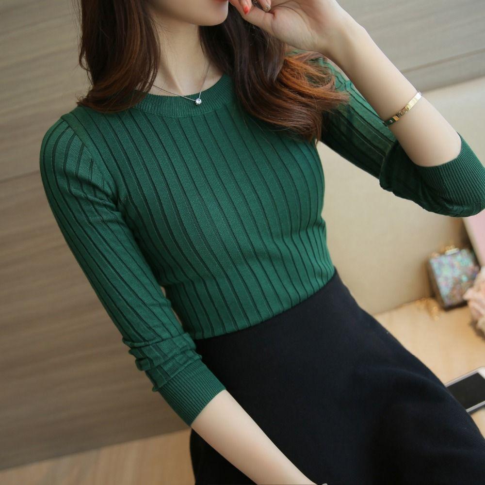 Femmes pull pull 2019 nouveau automne hiver vert rouge noir gris hauts femmes tricoté pulls à manches longues chemise femme marque