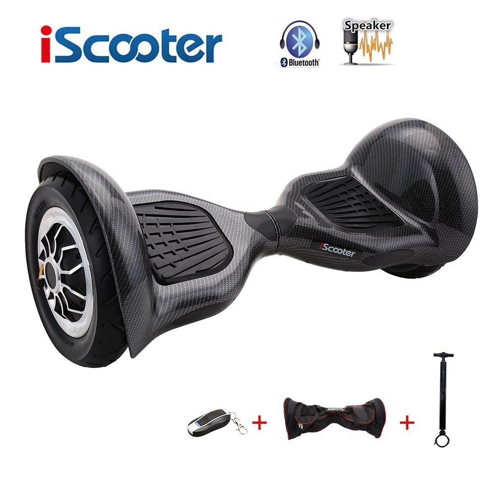 IScooter hoverboard 10 zoll Bluetooth 2 Rad Selbst ausgleich Elektrische Roller zwei Smart Rad gyroscooter 10 ''Skateboard bord