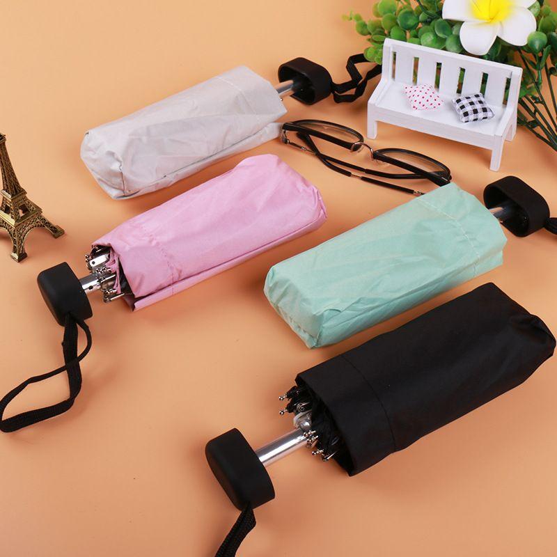 Mini parapluie de poche protection solaire mode pliant parasol de pluie femme cadeau filles Anti-UV imperméable Portable parapluie de voyage