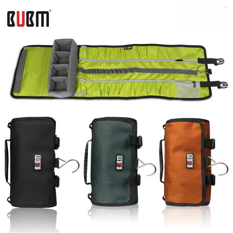 BUBM sac pour gopro hero 3 4 5 étanche caméra cas voyage sac organisateur de rangement de logement rouleau style aller pro protection sac