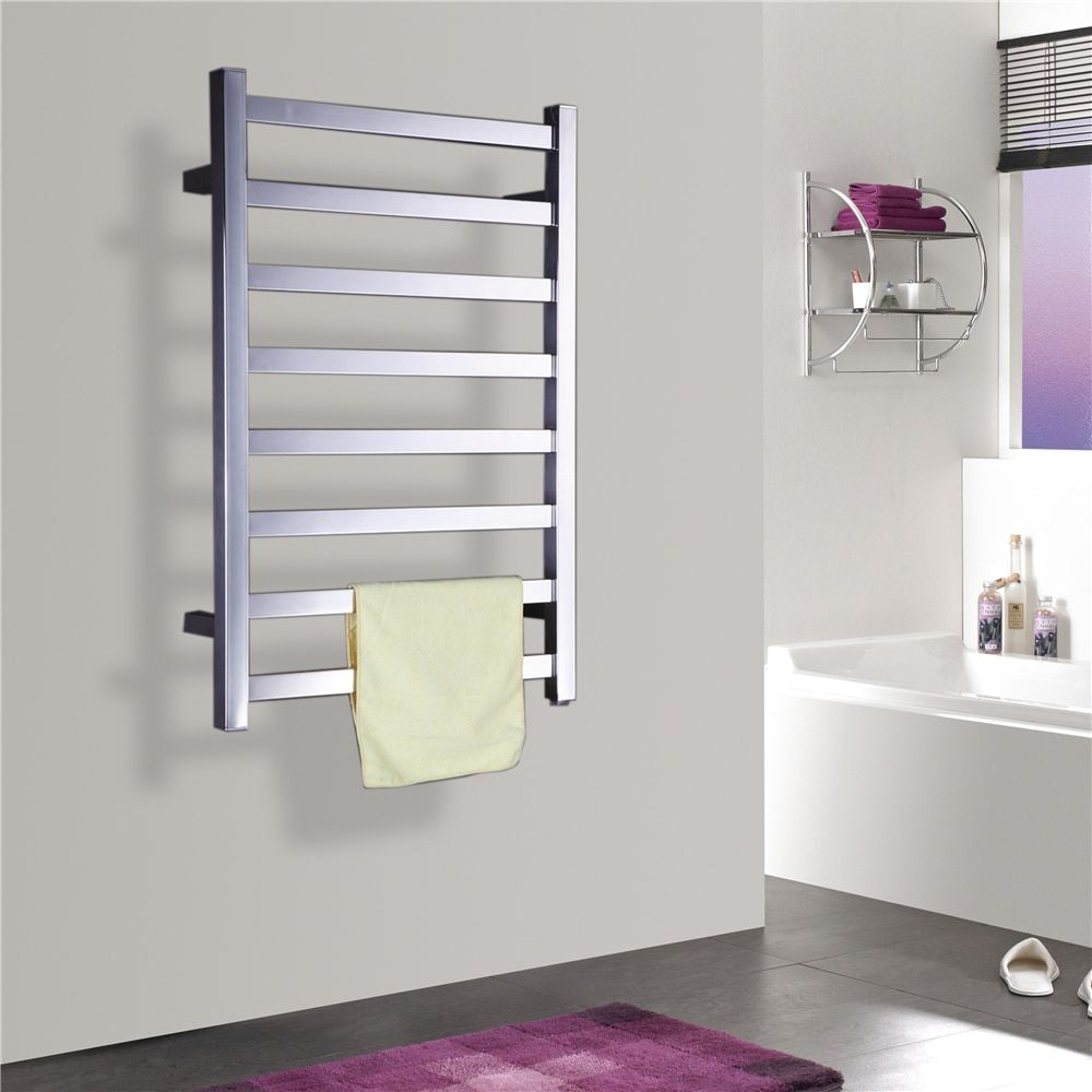 Free Shipping Stainless Steel Wall Mounted Towel Warmer/dryer,Bathroom Accessories Heated Towel Rail/Racks TW-RT7 Mirror polish