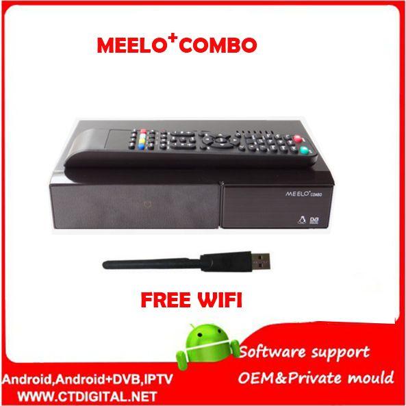 Besser MEELO COMBO DVB-S2/C/T2 linux IPTV Satelliten-receiver 1200 mhz Dual DMIPS Prozessor 1g RAM 4 gb ROM X SOLO MINI 3