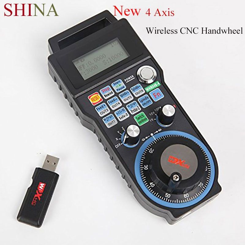 SHINA sans fil Mach3 MPG pendentif tour volant pour CNC Mac. Mach 3, 4 axes/6 axes volant Machine outil accessoires contrôle