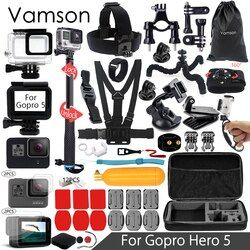 Vamson for Gopro 6 5 Accessories Set Waterproof Housing Protection case Monopod for Gopro hero 6 5 Sport Camera Vamson VS10