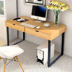 LK1657 hogar de PC de escritorio con 2 cajones Simple creativo ordenador soporte de gran tamaño escritorio MDF + acero