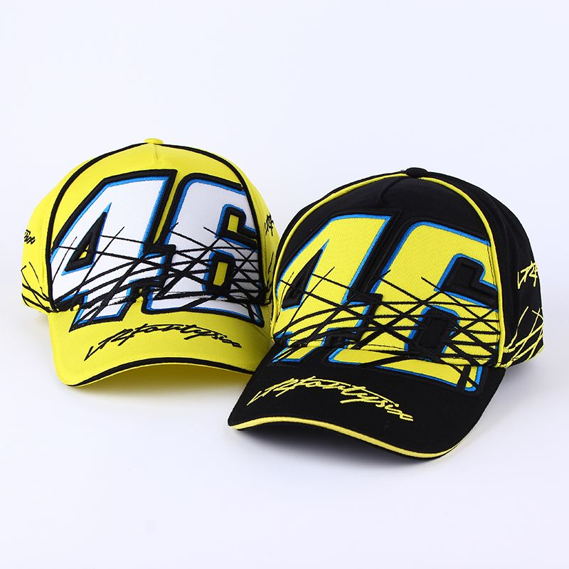 2017 New Rossi VR 46 Caps Baseball Caps Snapback Bones Masculino Moto Gp Rossi Vr46 Motorcycle Men For Women Hats Casquette