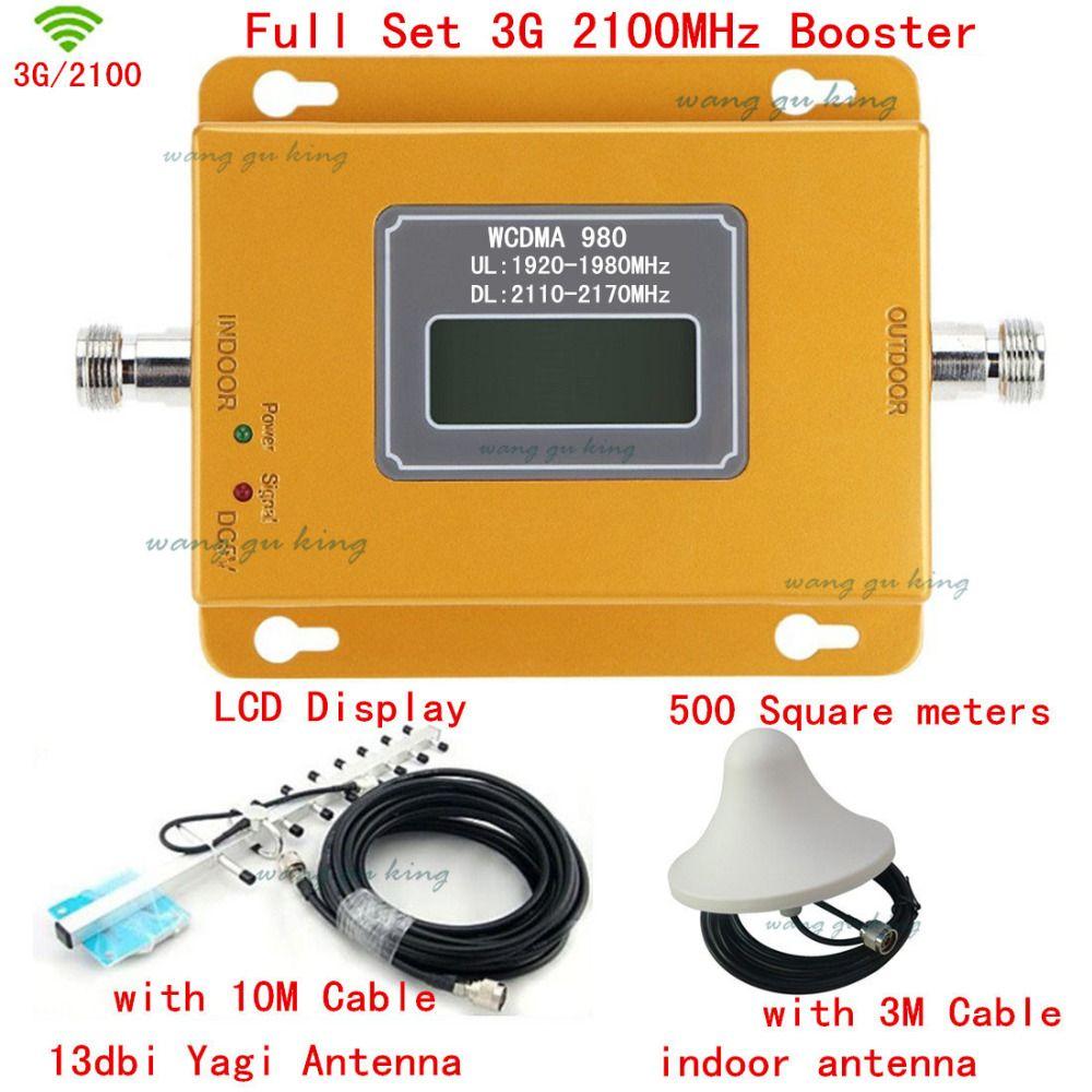 Full Set LCD display! 70db Mini 3G UMTS WCDMA 2100 Mhz Repeater Handy 3G Signal Booster WCDMA Signal Repeater Verstärker