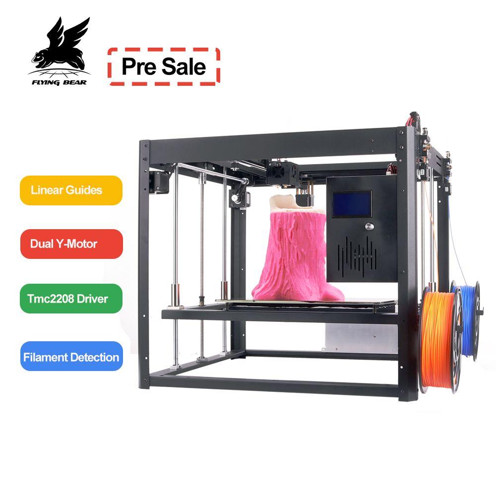 Flyingbear Tornado 2 large 3d Printer DIY Full metal Linear rail 3d printer High Quality Precision double extruder