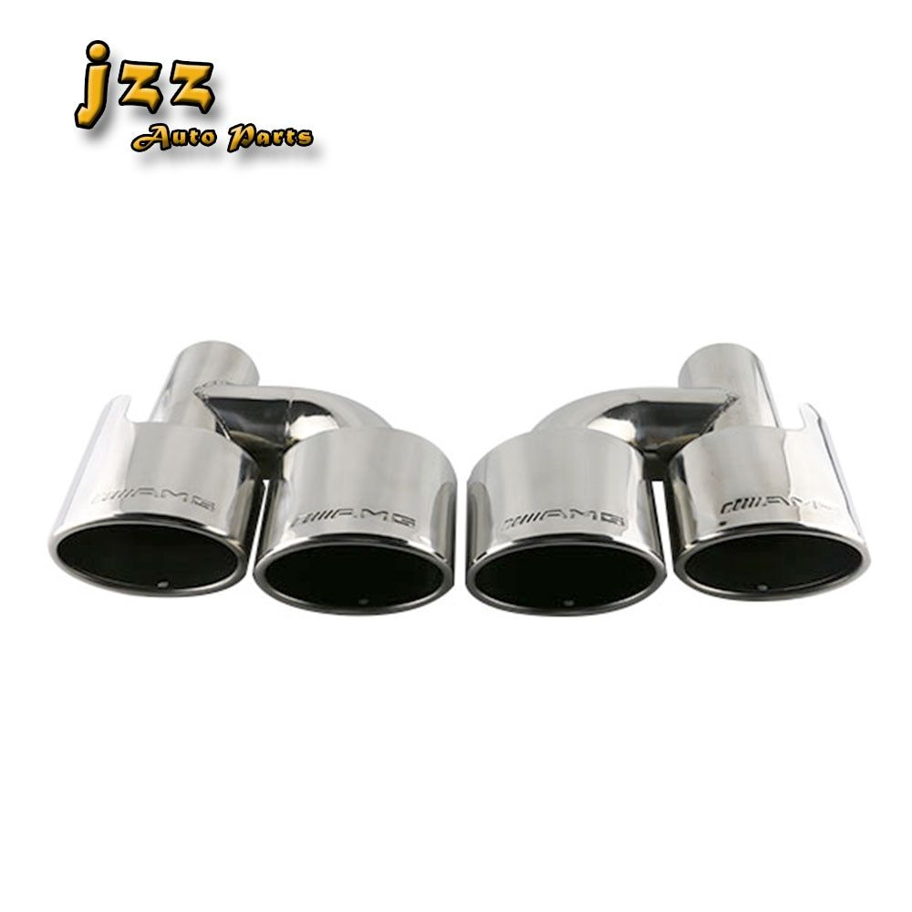 JZZ 1 set Auto le tuyau d'échappement sur la voiture double extrémité tuyau en acier inoxydable silencieux embouts pour Mazda 63mm entrée
