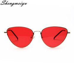 Ретро в форме кошачьих глаз Солнцезащитные очки женские Желтые красные линзы солнцезащитные очки модные легкие солнцезащитные очки для же...
