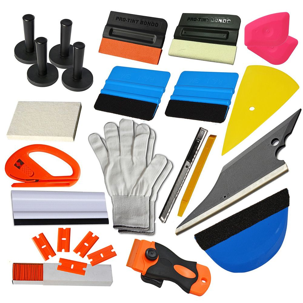 EHDIS Car Wrap Vinyl film Tool Kit 3M Squeegee ice scraper Art Knife blade with Magnet Holders Window Tinting sticker cover tool