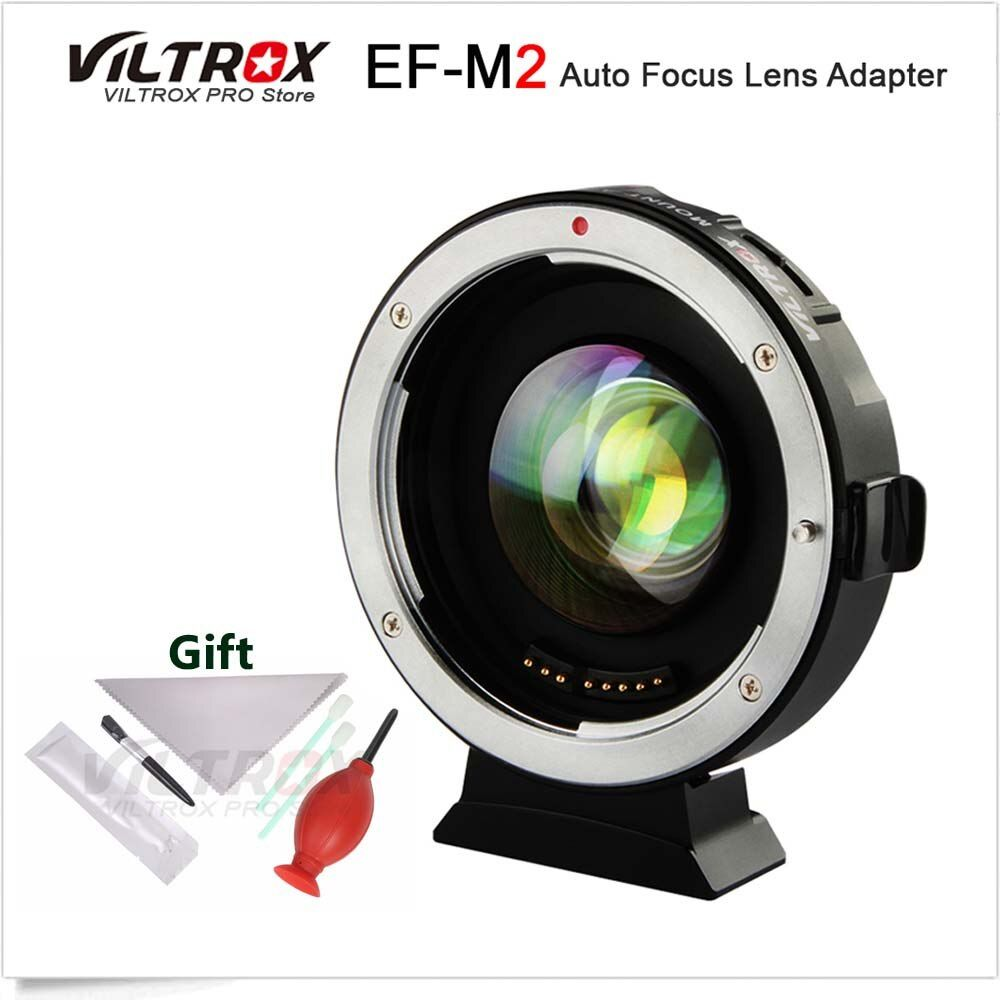 VILTROX EF-M2 0.71x Electronic Auto Focus Reducer Speed Booster Turbo Adapter for Canon EF Lens to M4/3 Camera GH5 GF6 GX7 OM-D