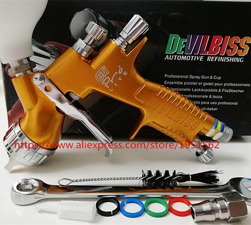 SPRAY GUN high quality professional Gti pro lite golden painting gun TE20/T110 1.3mm nozzle paint gun water based air spray gun