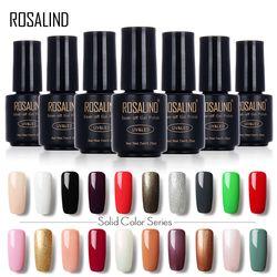 ROSALIND Liquidation 7 ML 01-30 Pur Couleur UV LED Soak-off Gel Vernis À Ongles Nail Art Long-durable Gel vernis gel laque
