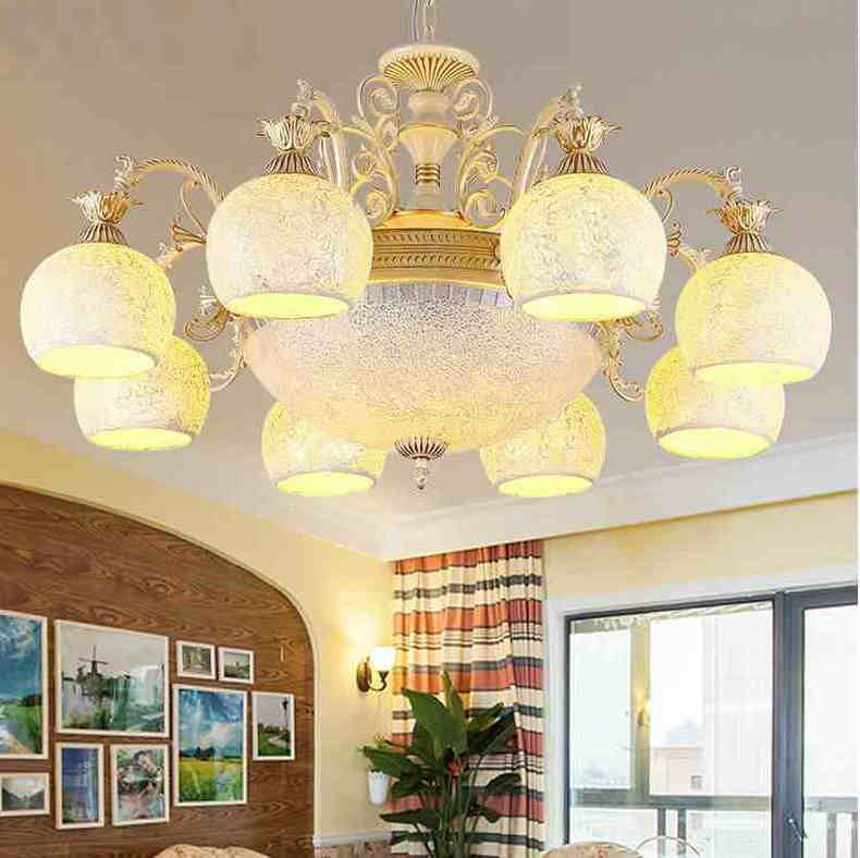 Gold chandeliers tiffanylamp antique sconce tiffany light glass for bedroom living room ceiling fixtures 220v 110v E27