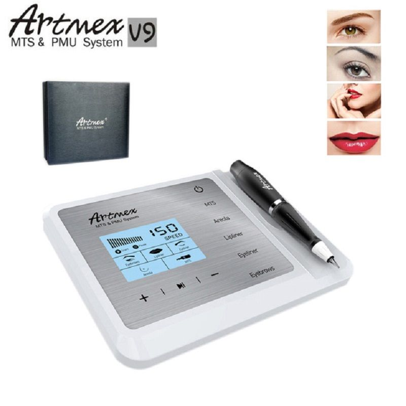 Neueste Permanent Make-Up Tattoo Maschine Artmex V9 Eye Brow Lip Pen Dreh MTS PMU System Mit V9 Tattoo Nadel